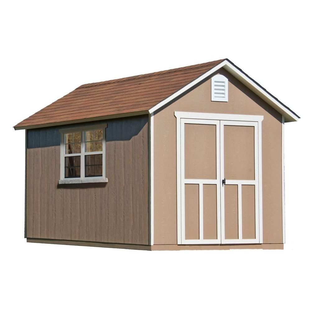 This Wood Storage Shed Features An Easy Open Floor Plan That Gives 637 Cu Ft Capacity With 6 4 In High Side Walls And A 9