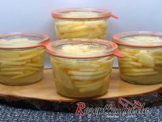 Apfelspalten im Zimt-Vanille-Sud eingekocht – Rezept zum Einkochen