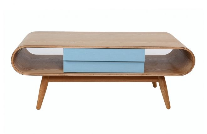 table basse scandinave bois naturel bleu baltik meubles. Black Bedroom Furniture Sets. Home Design Ideas