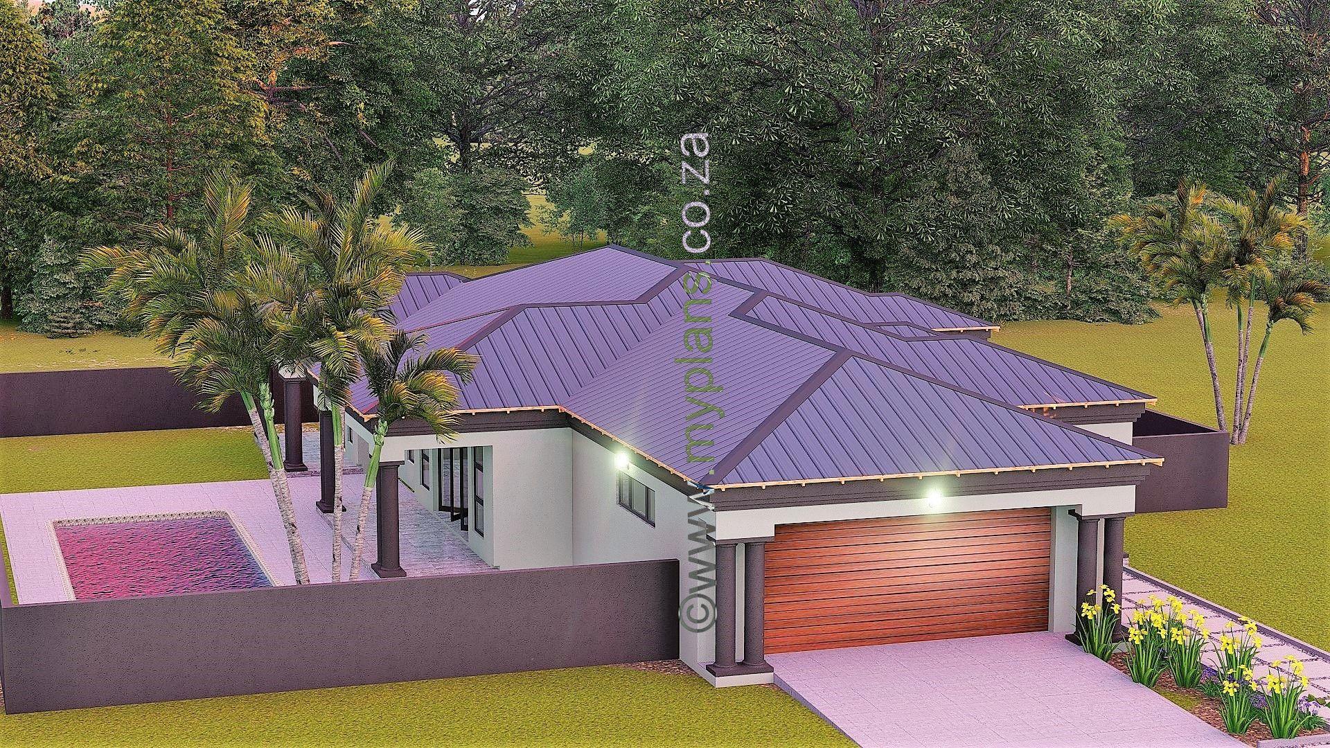 3 Bedroom House Plan Bla 074s My House Plans Porch Roof Design Hip Roof Design