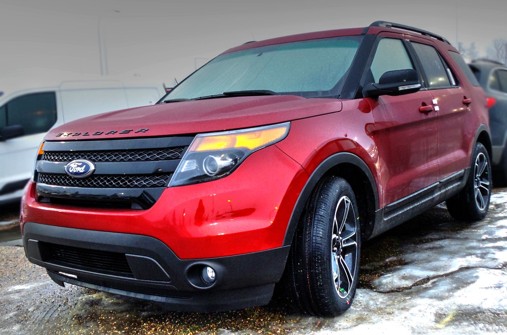 2015 Ford Explorer Sport In Ruby Red Metallic Tinted Clearcoat