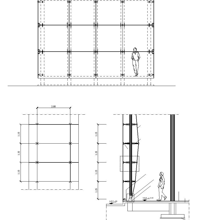 Free curtain wall details cad design free cad blocks for Online autocad drawing