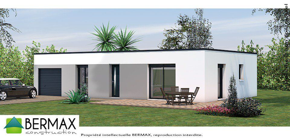 Plan maison 200m2 for Maison cube plain pied moderne