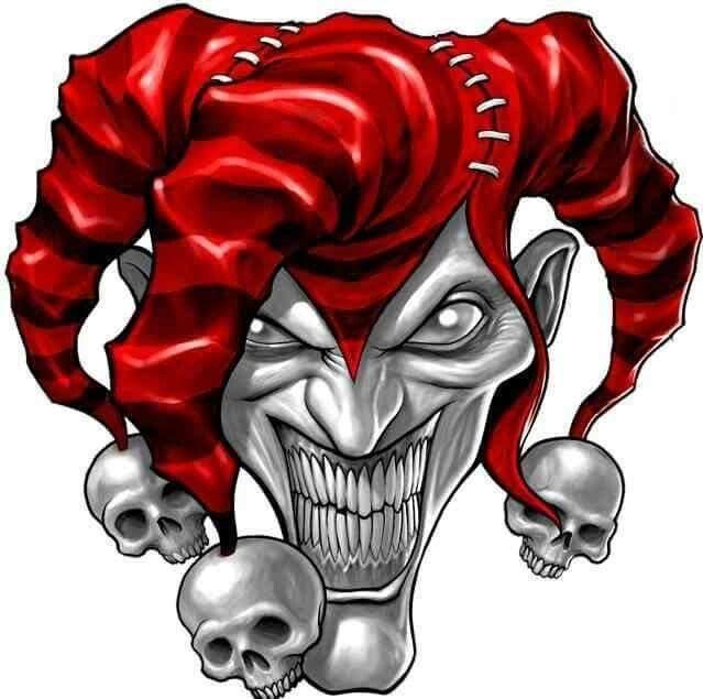 Psycho Jester Jester Tattoo Clown Tattoo Evil Jester