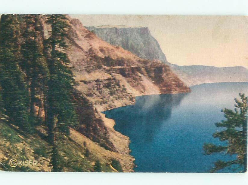 1940's LAKE SCENE Crater Lake Park - Near Medford Oregon OR AE4086 | eBay