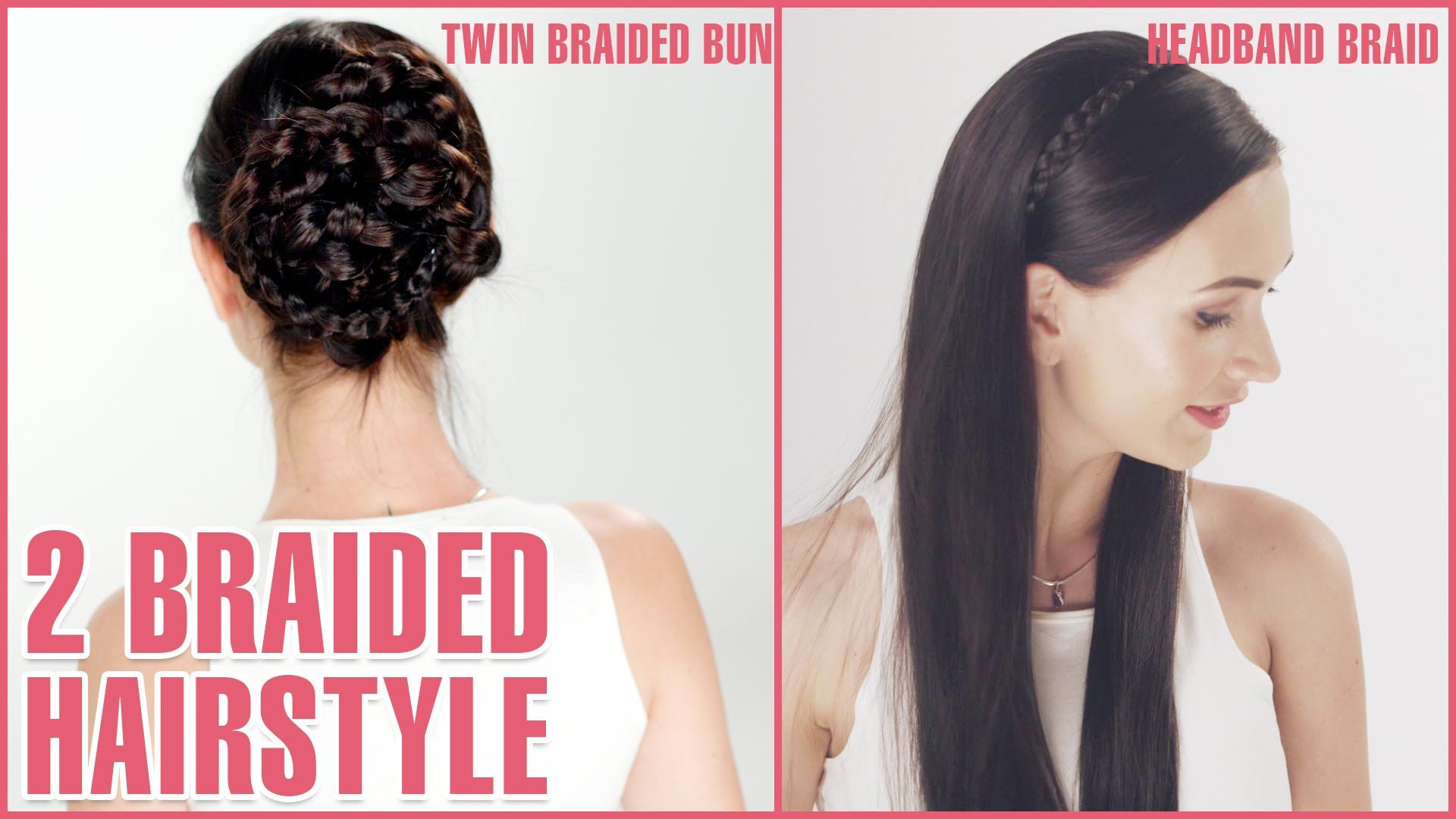 easy braided hairstyles a twin braided bun brush the hair to