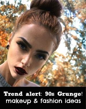 The 90s Are Back Click For Grunge Fashion And Makeup Looks Grunge - Grunge-makeup-ideas