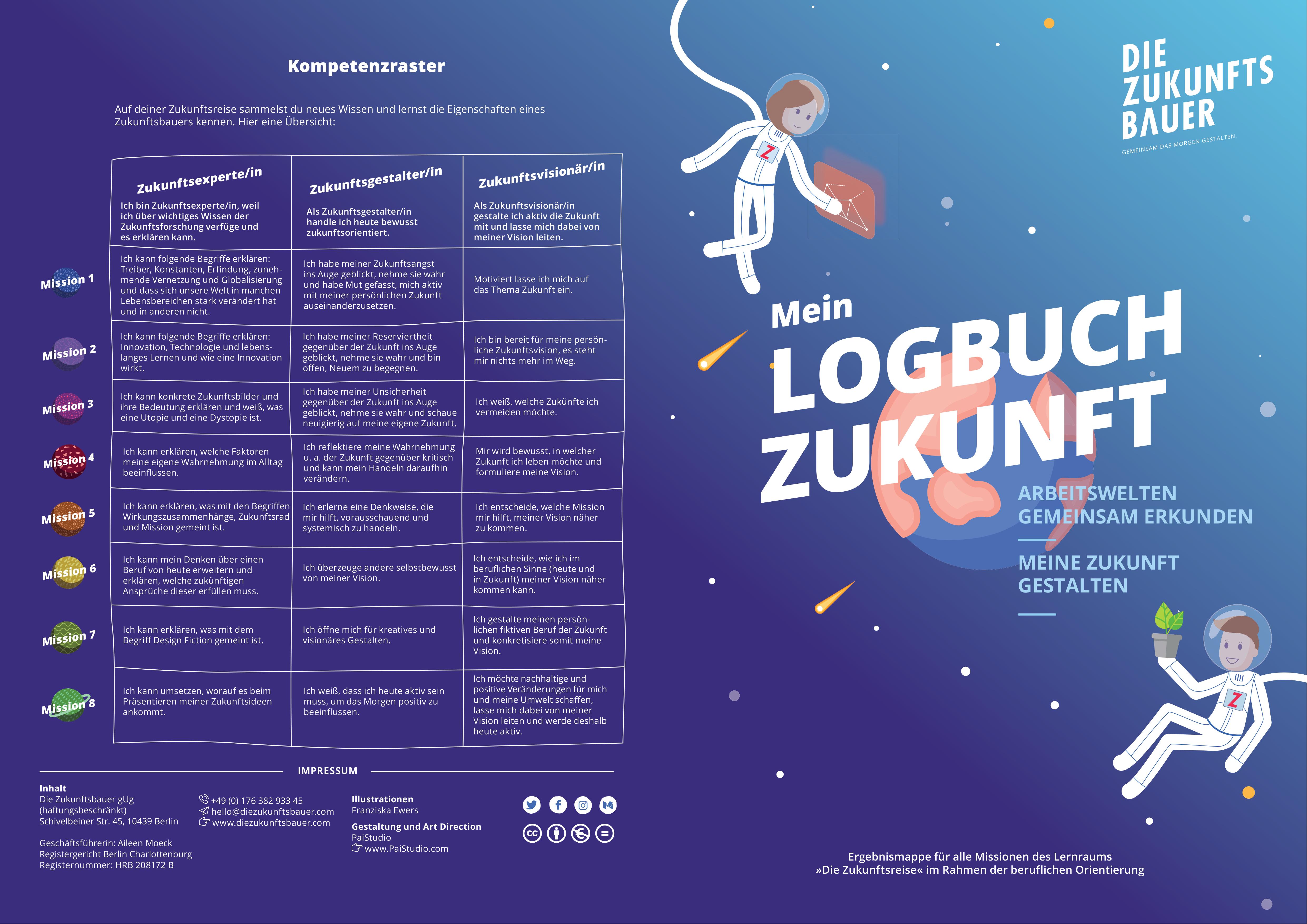 Die Zukunftsreise Logbuch Logbuch Lernen Unterrichtsmaterial
