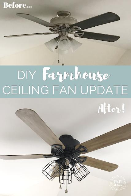 One Room Challenge Week 4: DIY Farmhouse Ceiling Fan Update