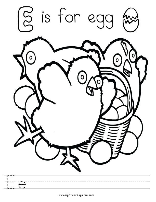 Letter-E-Coloring-Page-1 | Letters of the Alphabet | Pinterest ...