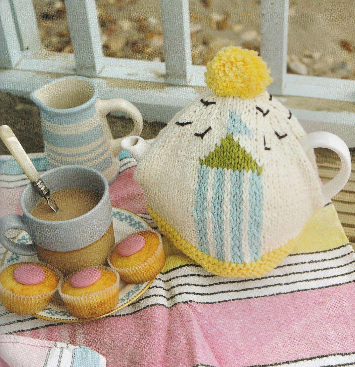Beach Hut Tea Cozies 3 GMC   Knitting   Pinterest