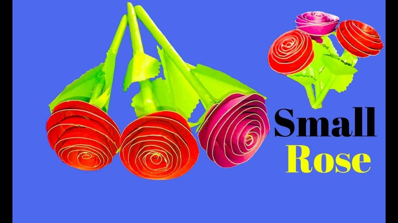 How To Make Small Rose Flower Paper At Home Making Paper Flowers