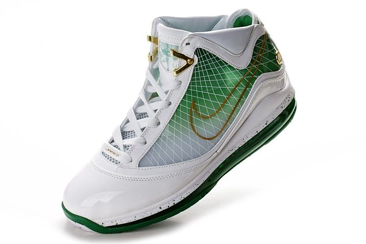 low priced 49b00 ddcc5 Nike Air Max Lebron 7 (VII) - White Green!$79.30USD | Lebron ...
