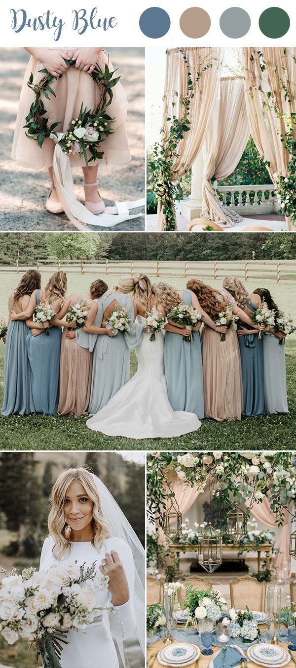 9 Ultimate Dusty Blue Color Combinations for Wedding