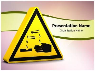 Corrosive Sign Powerpoint Template Is One Of The Best Powerpoint
