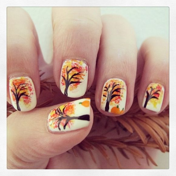 60 Fall Inspired Nail Designs Leaves Owls Pumpkins More! - 60 Fall Inspired Nail Designs Leaves Owls Pumpkins More! Nails