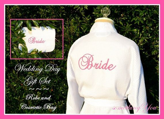 Wedding Day Bride Back Embroidered Robe and by SomethingYouGifts, $53.90
