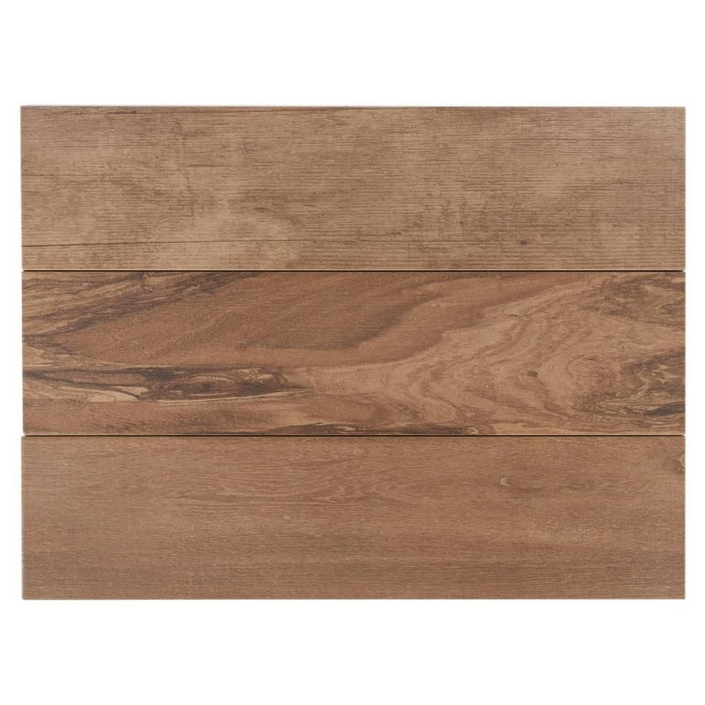 lumber noce wood plank porcelain tile 6in x 24in 100105865 find this pin and more on for the home by hbaudouin