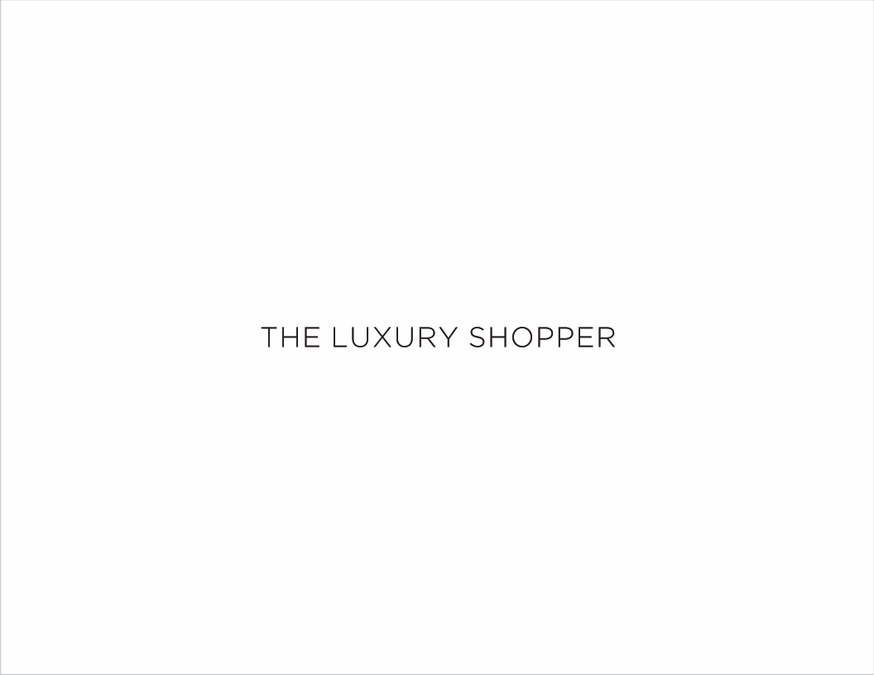 Create a simple and effective logo for The Luxury Shopper by Ground braker