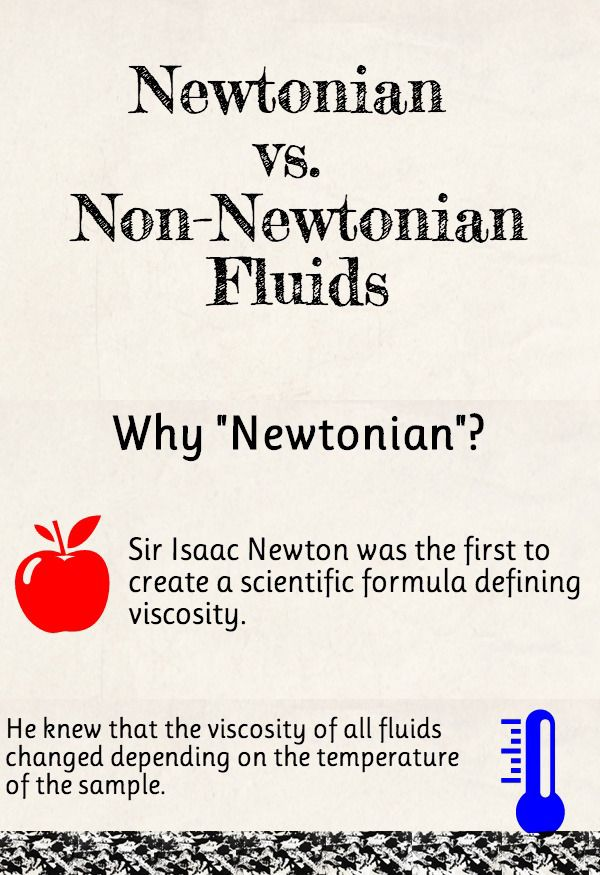 Newtonian Vs Non Newtonian Fluids Get The Infographic Here