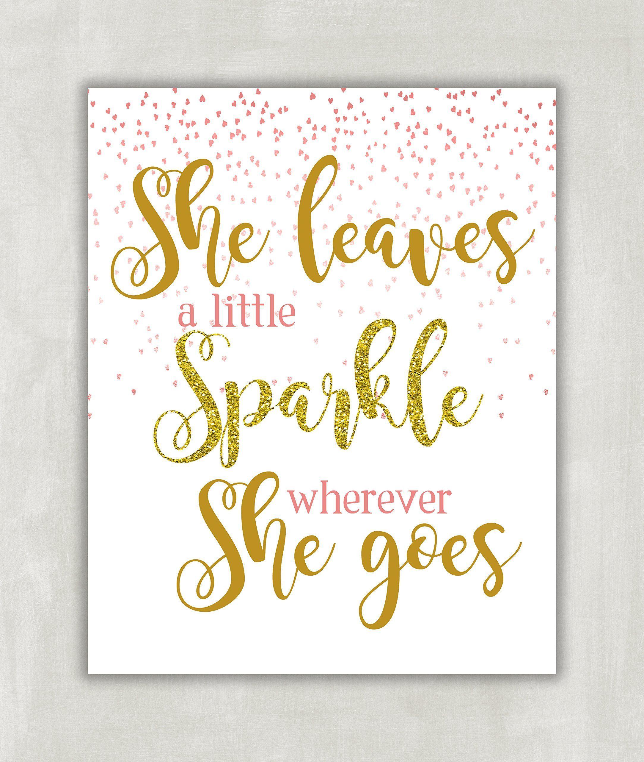 She Leaves A Little Sparkle Wherever She Goes  Childrens