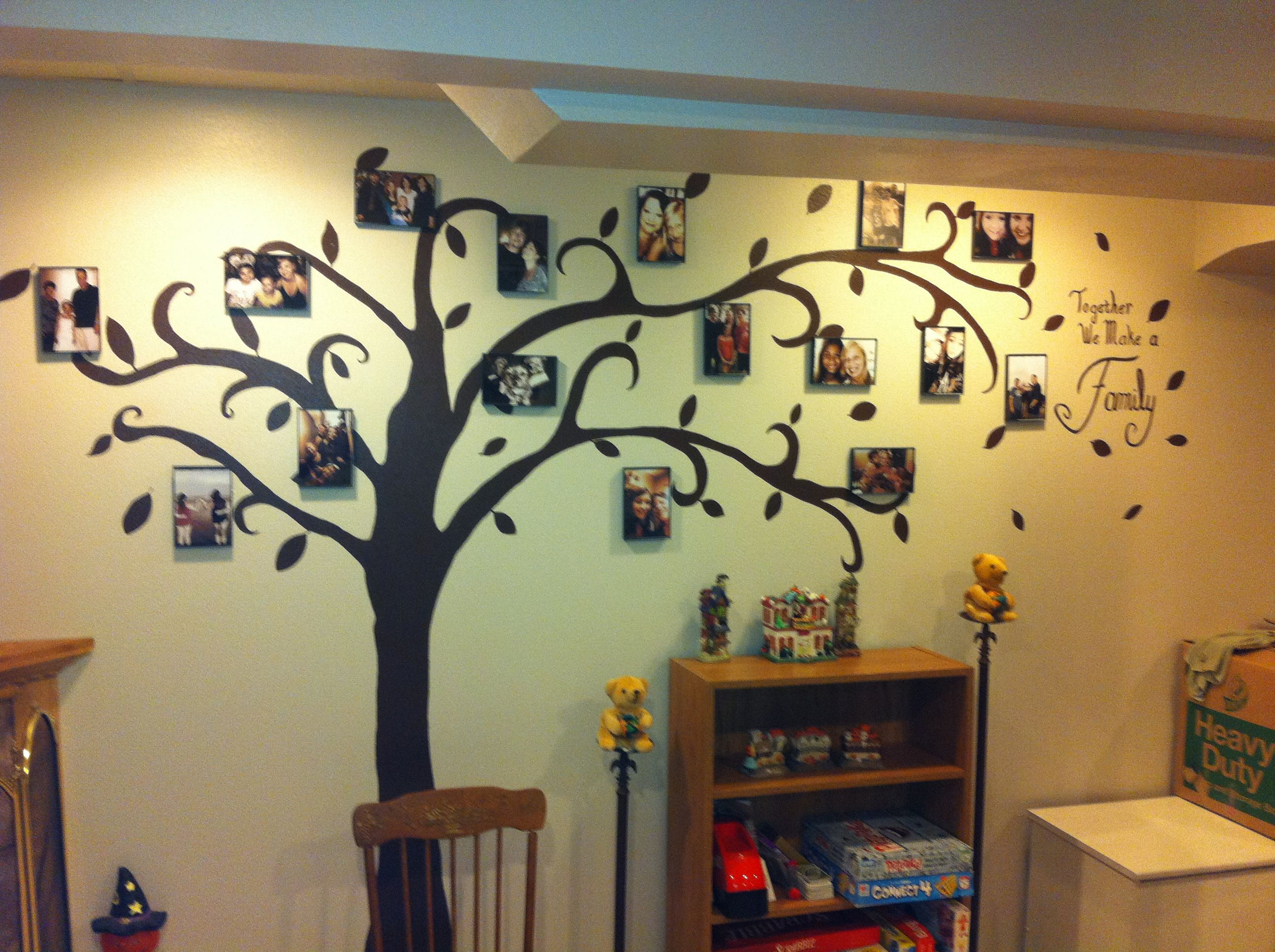 Family tree wall art wall art pinterest tree wall for Diy family tree wall mural