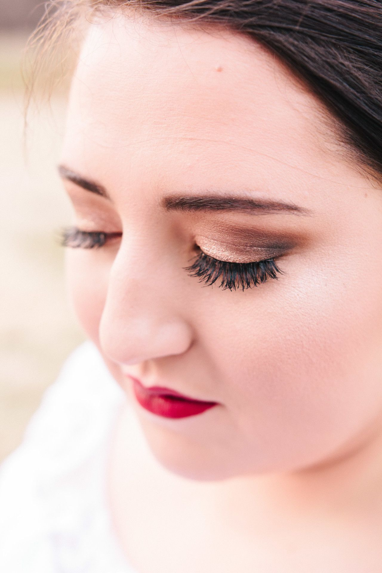 Red Lip Bridal Makeup Red Lips Dark Brown Eye Formal Makeup