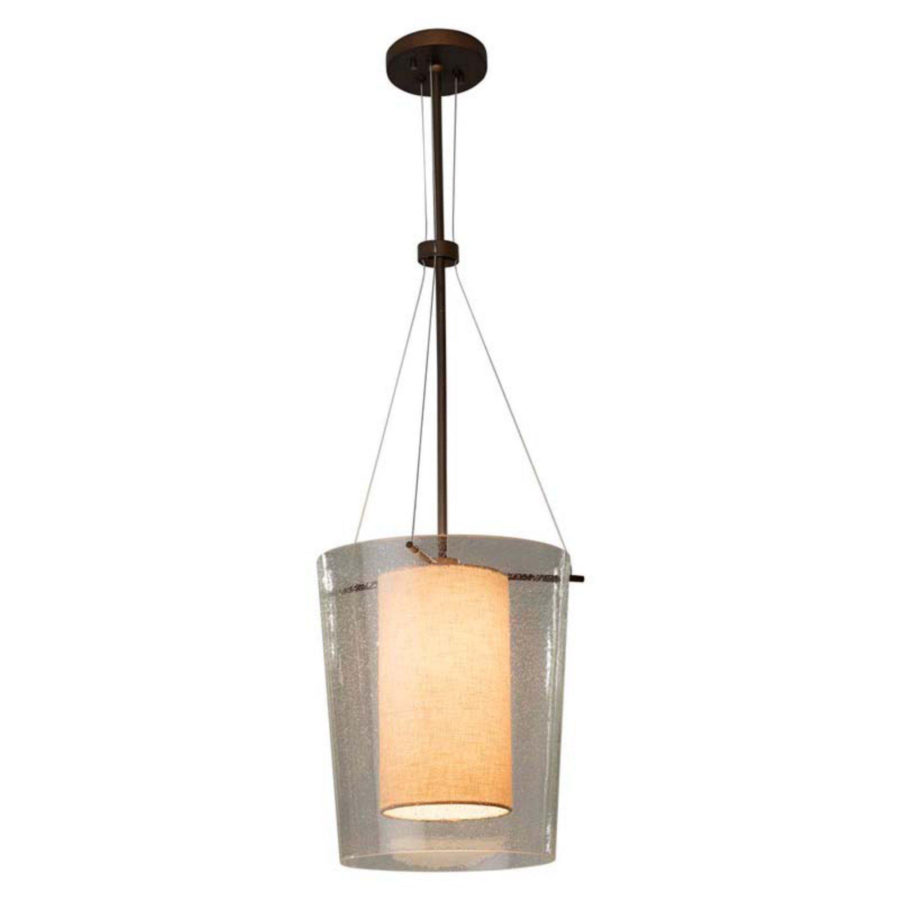 Justice Design Amani 8010 Pendant Light  Fab 8010 Crem Nckl Led1