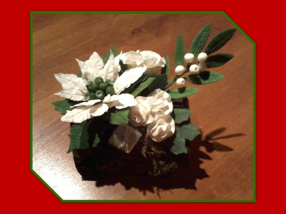 Poinsettia gemaakt, voor de kerst