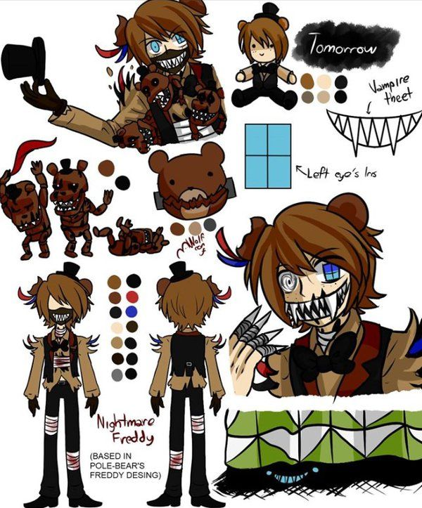 Anime Characters Sister Reader : Pole bear fnaf nightmare freddy by dragontamer on