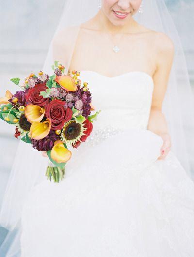 Fall hues: http://www.stylemepretty.com/missouri-weddings/st-louis/2015/05/13/elegant-fall-st-louis-wedding/ | Photography: Lisa Dolan - http://lisadolanphotography.com/