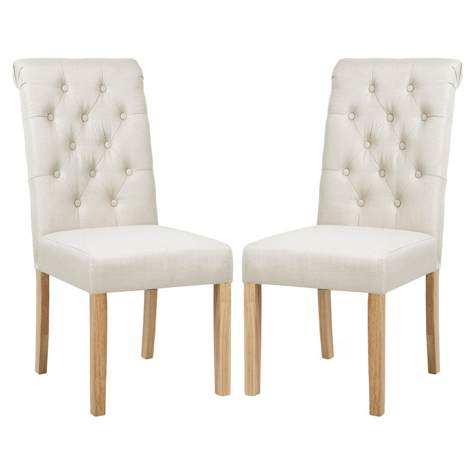 Edgemod Atlanta Tufted Parson Dining Chair Set Of 2 Dining Chairs Ivory Dining Chairs High Back Dining Chairs