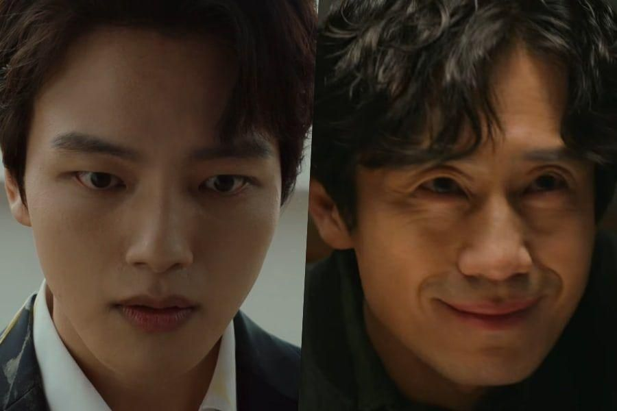 """Watch: Yeo Jin Goo Questions The Ways Of Shin Ha Kyun's Mysterious Village In New Teaser For """"Beyond Evil"""""""