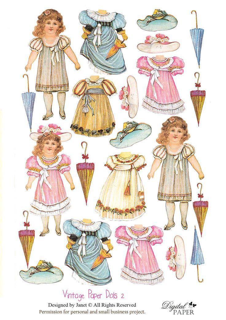 Pin by Ольга Паркина on Paper Doll19   Pinterest   Dolls, Vintage ...