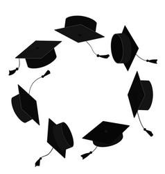 Graduation Party Invitation Royalty Free Vector Image Circle Frames Graduation Party Invitations Graduation Cap
