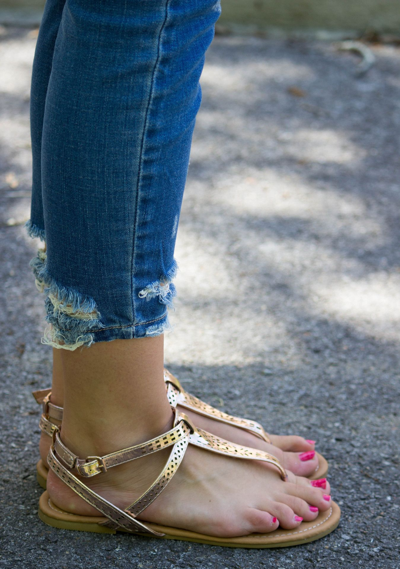 With Good Reason Sandals: Rose Gold
