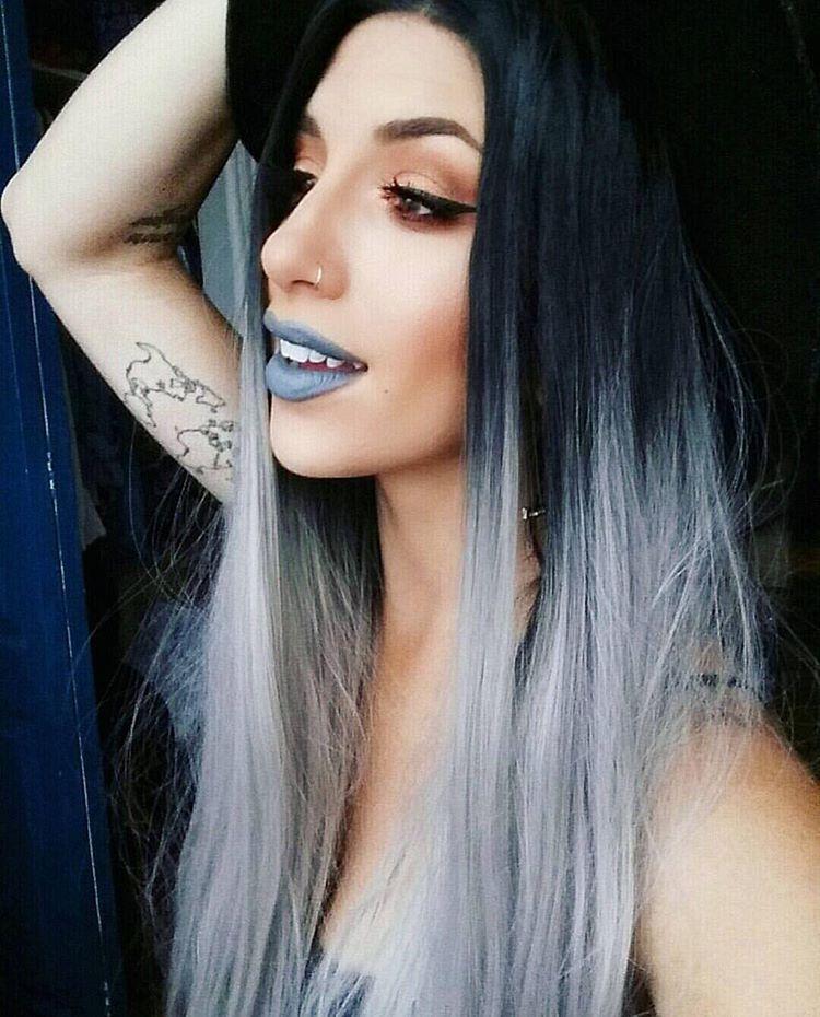 Grey lips + grey hair=   @jessikapetten wearing space cake lipstick!   #meltcosmetics #meltspacecake