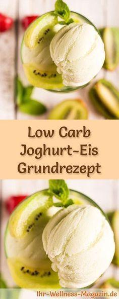 Low Carb Joghurt-Eis selber machen - gesundes Grundrezept -