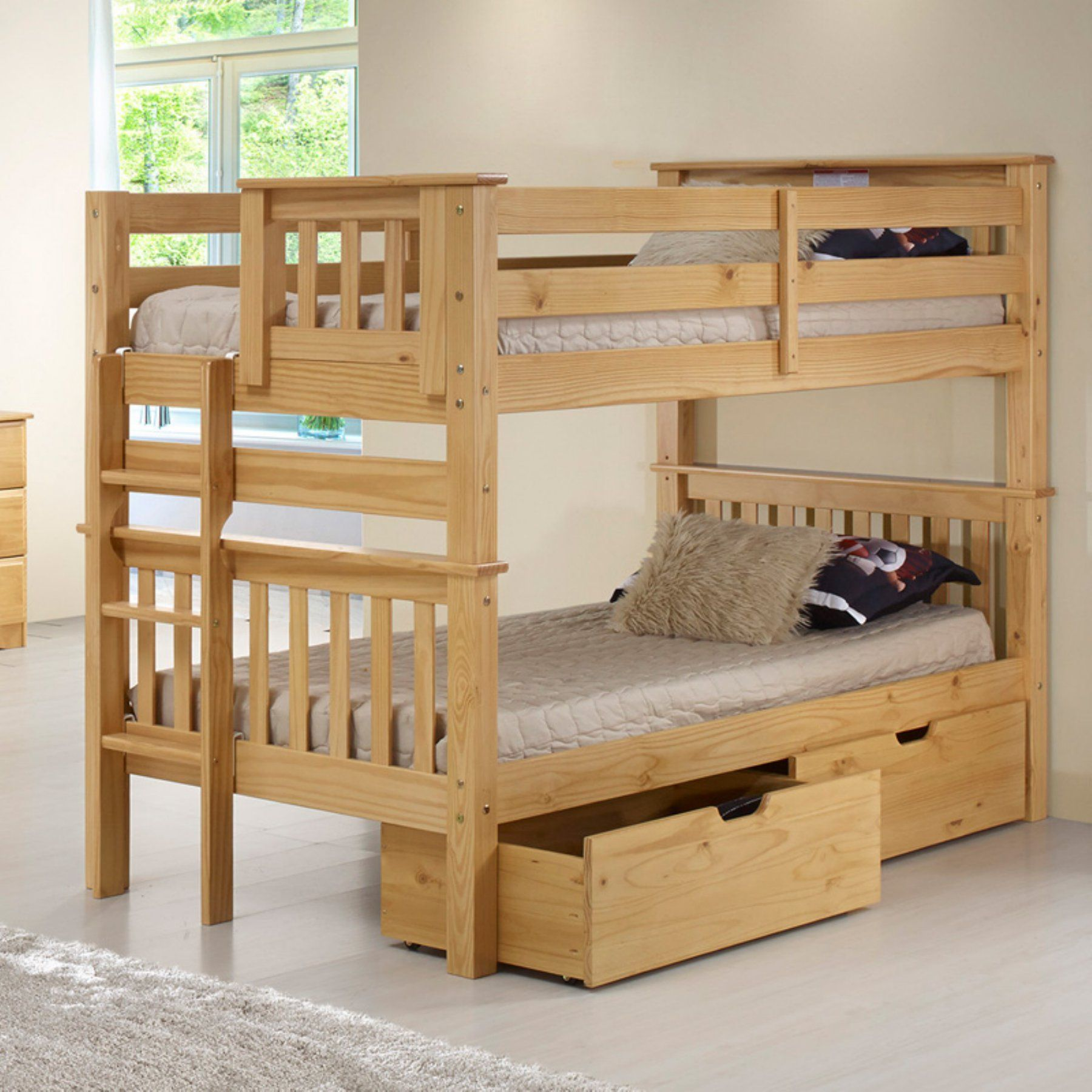 Best Camaflexi Santa Fe Mission Low Bunk Bed Twin Over Twin 640 x 480