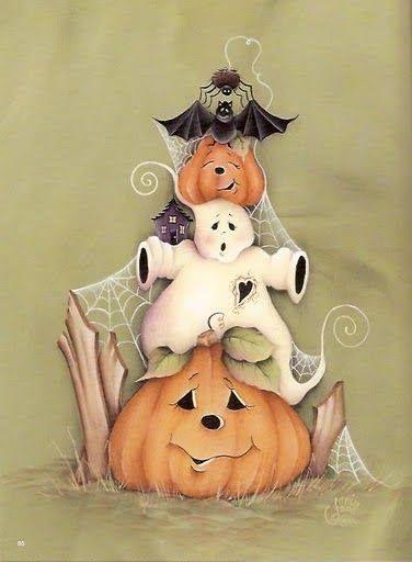 Halloween Tole Painting Projects - AmigurumiHouse #tolepainting
