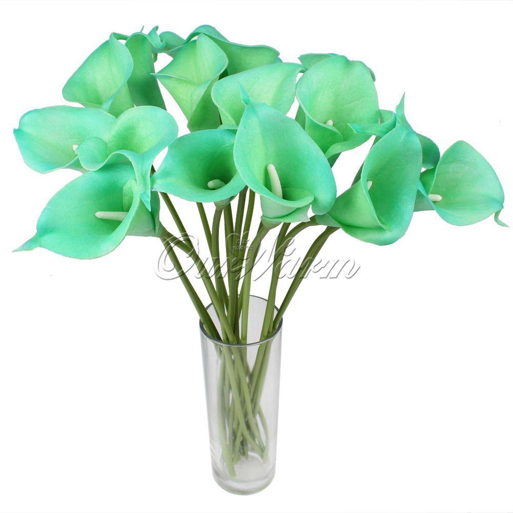 10 x Artificial Calla Lily Wedding Bridal Bouquet Fake Flowers DIY Home Decor