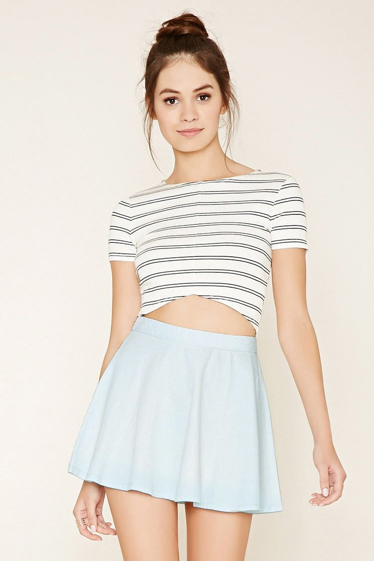 72025e87b Denim Skater Skirt | Forever 21 - 2000177188 | Clothes&things wanted ...