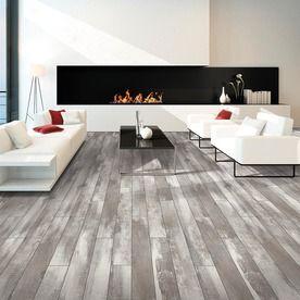 Shop Pergo Portfolio 523 In W X 393 Ft L Iceland Oak Grey Wood White Washed FloorsLaminate