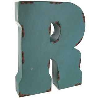 Large Blue Or Brown Metal Letter R Shop Hobby Lobby Metal Letters Large Metal Letters Metal Letters Hobby Lobby