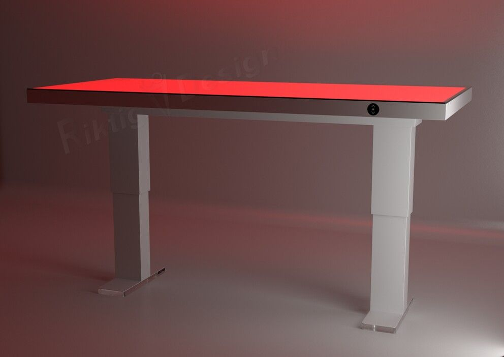 Krugeri  trådløs hev/senk bord med rgbw overflate