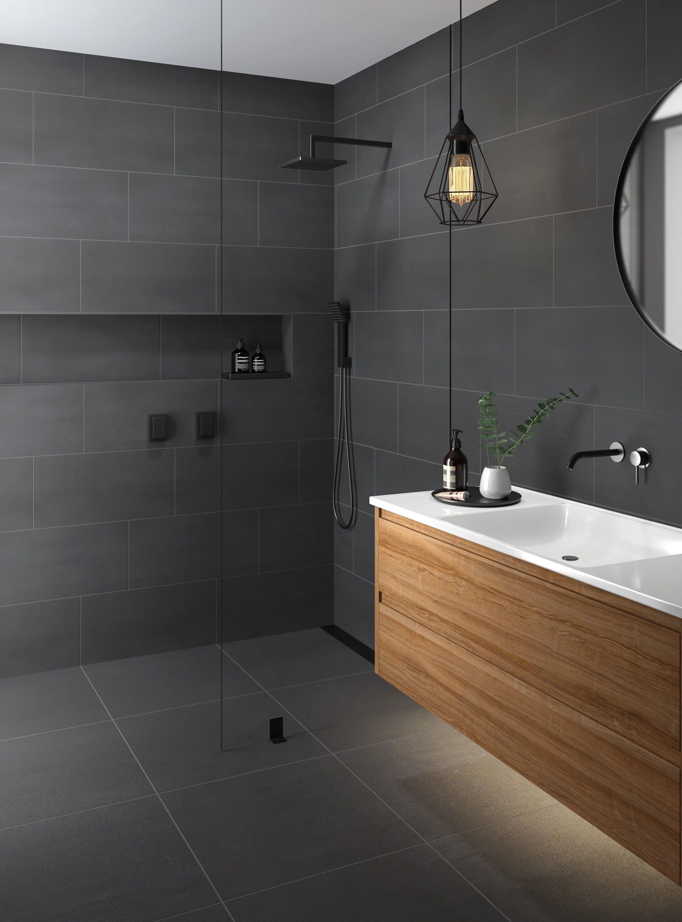 Doblo Matt Grey Porcelain In 2020 Grey Bathroom Tiles Commercial Bathroom Designs Bathroom Interior