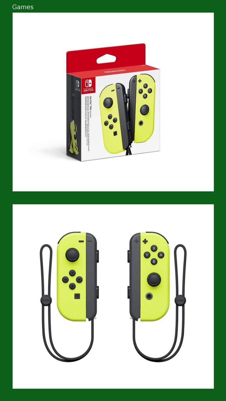 Joy Con 2er Set Neon Gelb Nintendo Switch Nintendo Switch Nintendo Und Neon