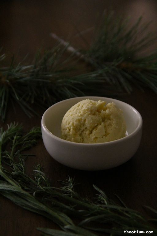 Goats Milk and Lime Ice Cream