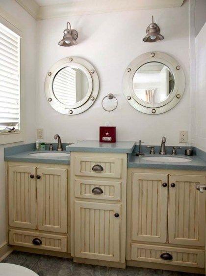 Natical Items Nautical Bathroom Decor Cabinet Ship Windows
