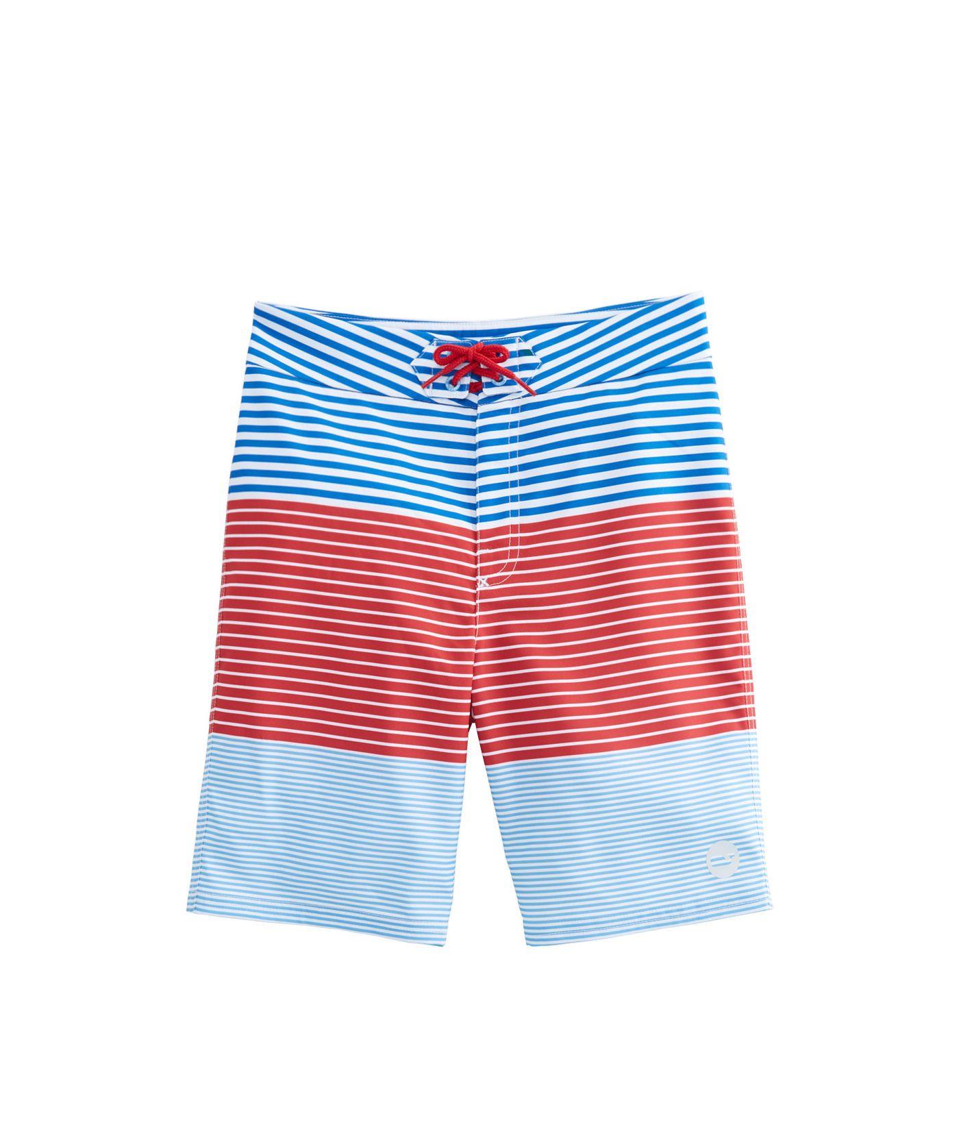 28c5b25411 Boys Whale Harbor Stripe Board Shorts   Treygan & Greydon   Boys ...